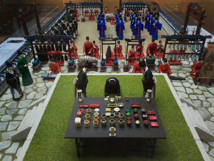 城北先蚕(ソンブクソンジャム)博物館の儀式の展示