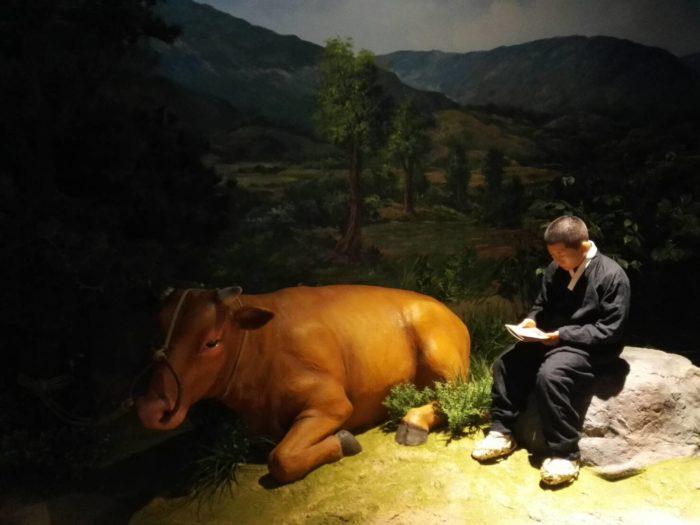 朴正熙大統領記念館。貧しい子供時代の朴正熙少年