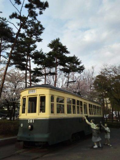 ソウル歴史博物館に展示されている日帝強占期の電車
