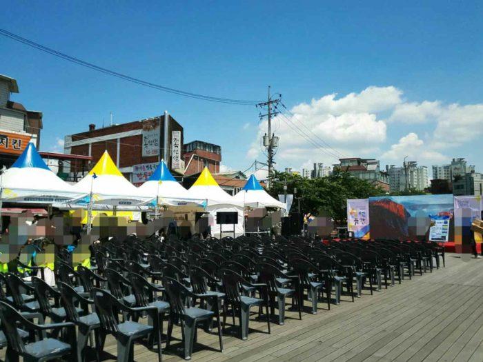 ハンソンデ入口駅前のお祭三仙遊覧祝祭