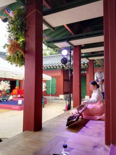 景福宮宮中夜別食で演奏されたカヤグム