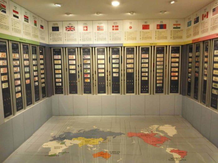 韓国金融史博物館貨幣の展示