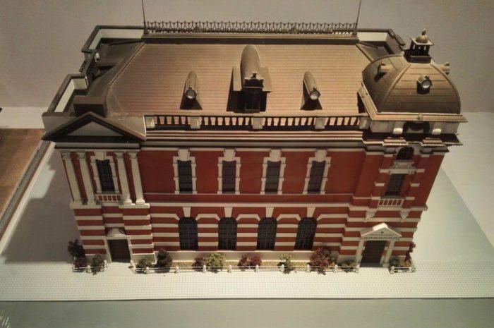 韓国金融史博物館展示物。ハンソン銀行本店の模型