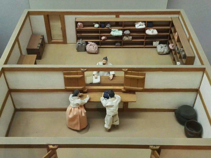 韓国金融史博物館展示、昔の質屋