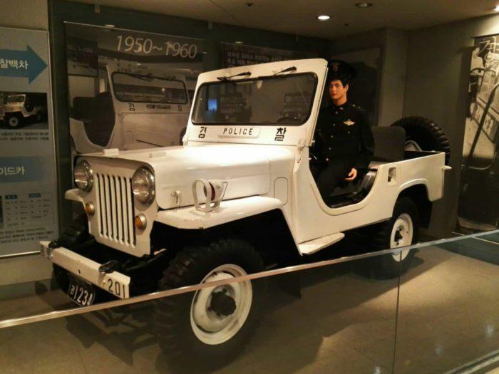 ソウル警察博物館警察車両ジープ