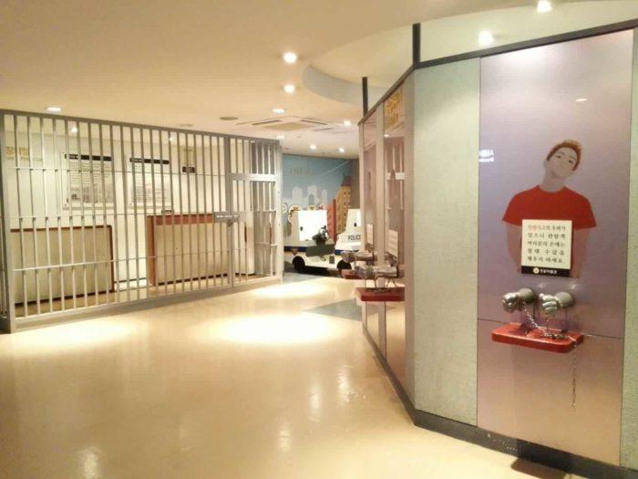 ソウル警察博物館体験コーナー留置場など