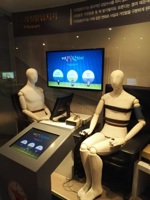 ソウル警察博物館うそ発見器