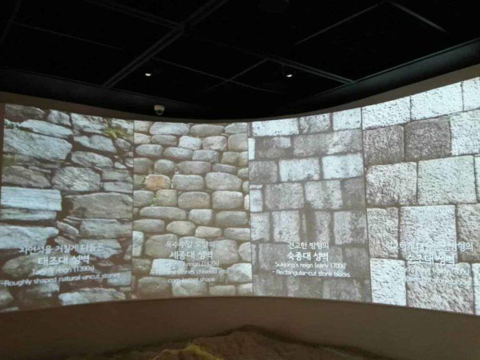 漢陽都城博物館 城郭の石の積み方