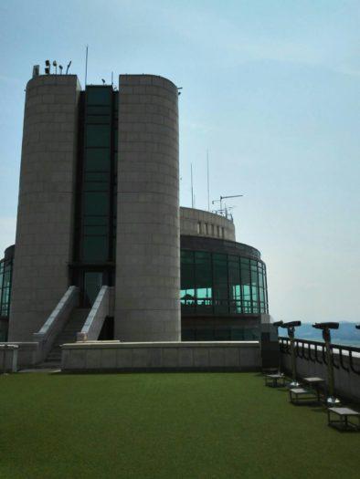 烏頭山(オドゥサン)統一展望台から眺める展望台