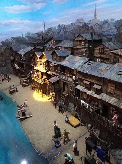 清渓川博物館展示 清渓川周辺のスラム