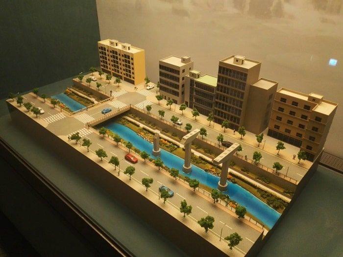 清渓川博物館展示 清渓川復元工事