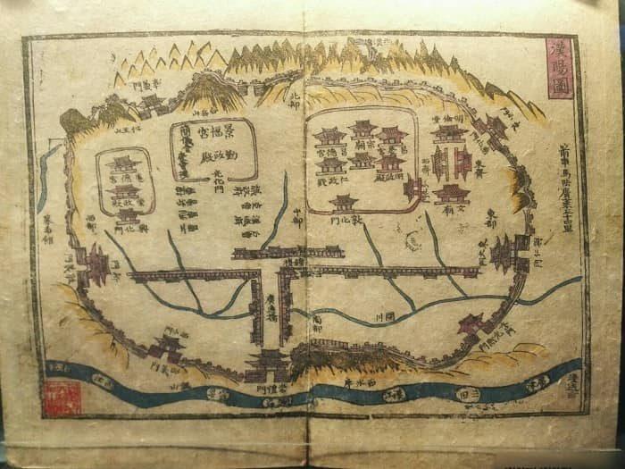 清渓川博物館展示物。朝鮮時代の清渓川