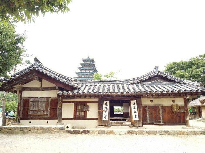 国立民俗博物館 野外展示 思い出の町並み朝鮮時代後期の住宅