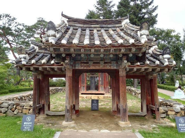 国立民俗博物館 野外展示孝子閣と孝子門