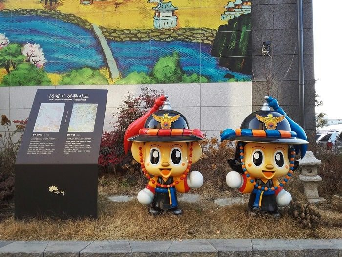 韓国のゆるキャラ ポドリとポスニ