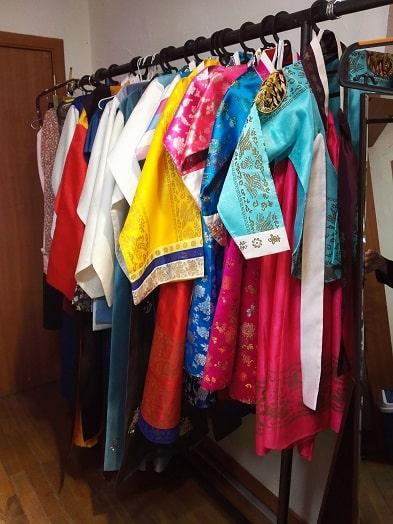雲峴宮ウニョングン韓服体験の衣装