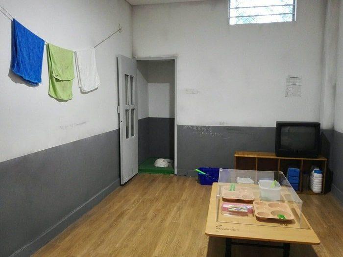 ソウル生活史博物館の拘置監(拘置所)展示室 監房