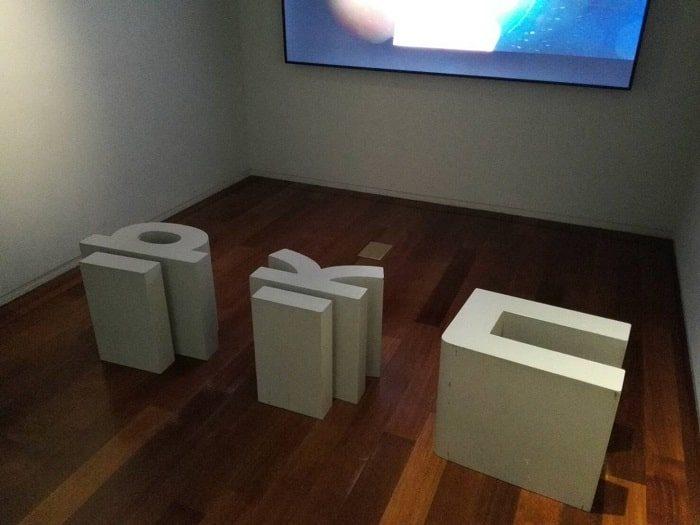 国立ハングル博物館のハングルの椅子