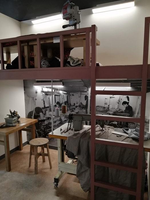 美しい青年チョン・テイル(全泰壹)記念館 平和市場縫製工場