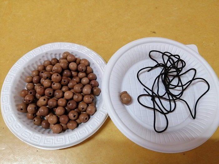 京畿道高陽市興国寺(フングクサ)テンプルステイ体験108の数珠作り