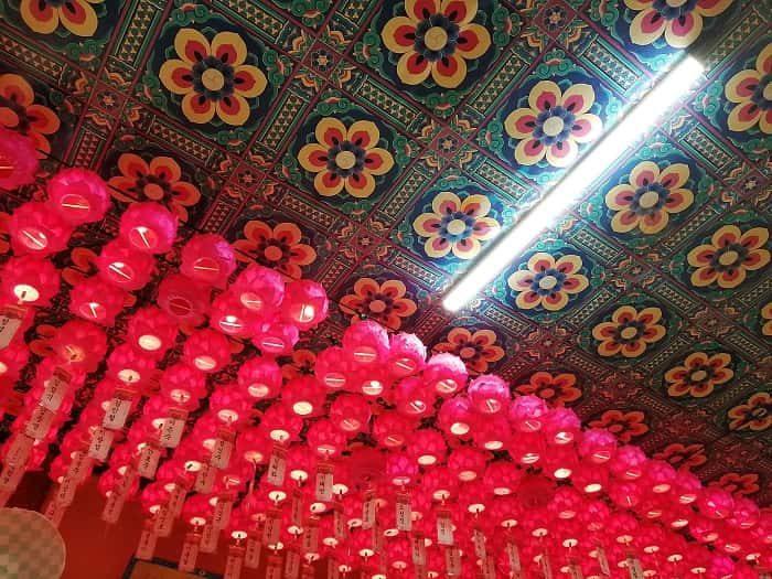 韓国お寺数珠作り テンプルステイ体験