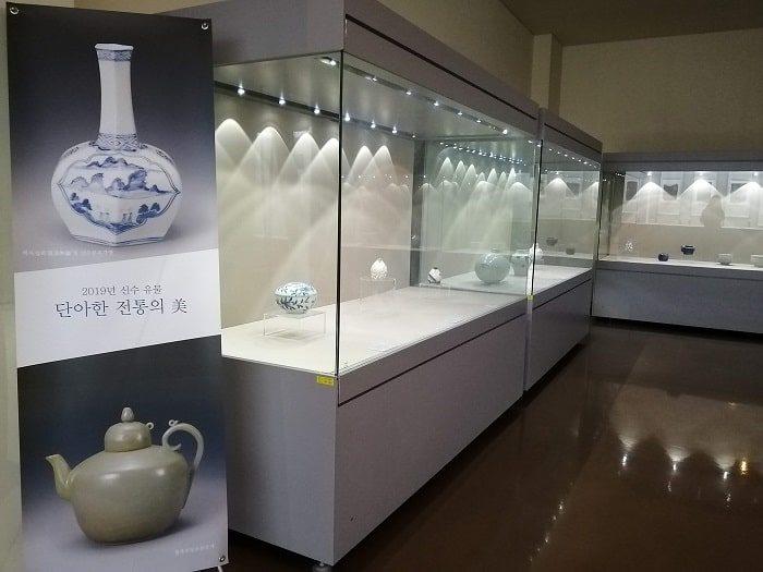 成均館大学校博物館 陶磁器の展示