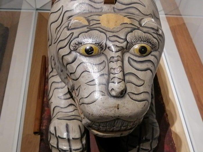 韓国初の国楽専門博物館、朝鮮時代の国楽祭礼楽器、虎の姿をした敔