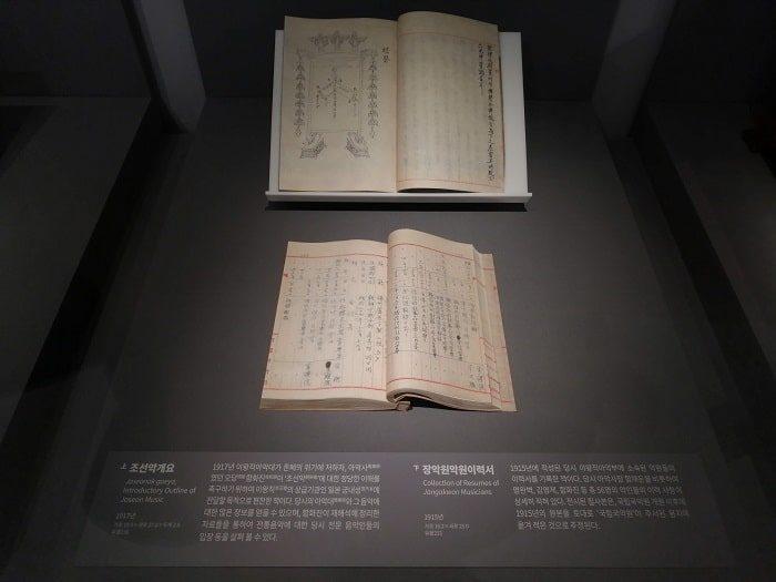 の国楽博物館、日帝強占期の遺物