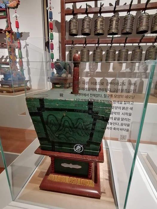 国楽博物館、朝鮮時代の国楽祭礼楽器の祝(チュク)