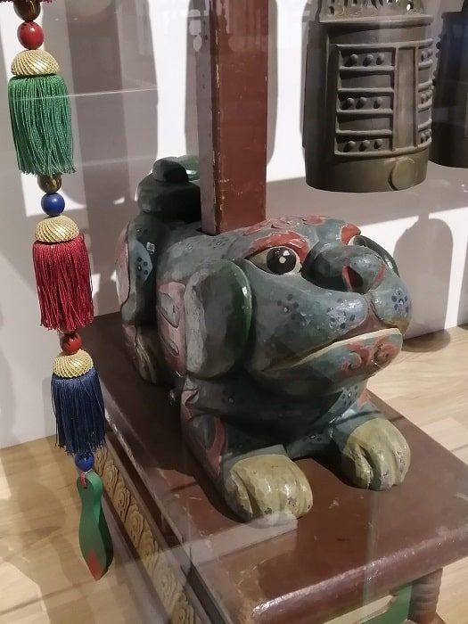 韓国初の国楽専門博物館、朝鮮時代の国楽祭礼楽器の犬の支え台
