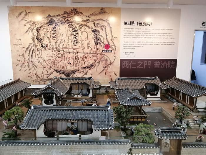 ソウル韓方振興センター、一階のジオラマ普済院
