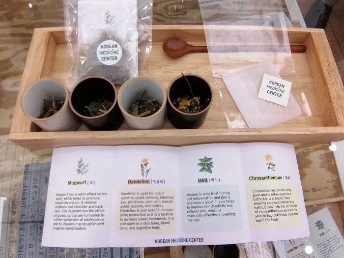 ソウル韓方振興センターの韓薬センターで韓方(韓国の漢方)茶試飲