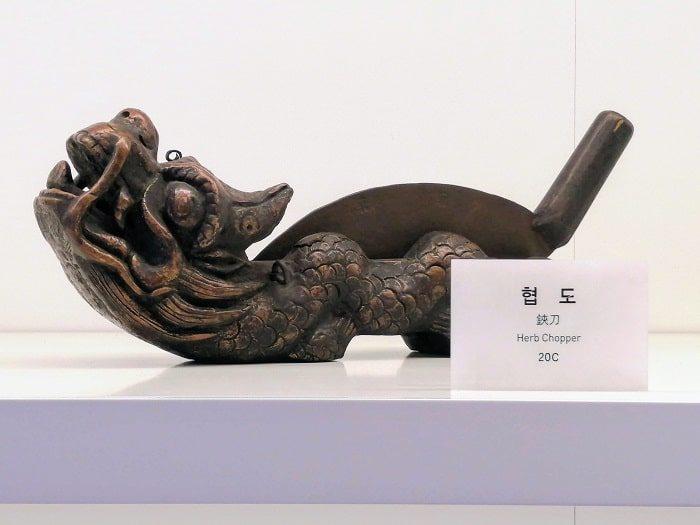 ソウル薬令市韓医薬博物館‗韓方(韓国の漢方)薬を製造する刃物