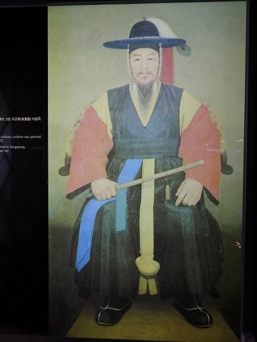 光化門広場地下の忠武公李舜臣将軍の物語(チュンムゴン イヤギ)肖像
