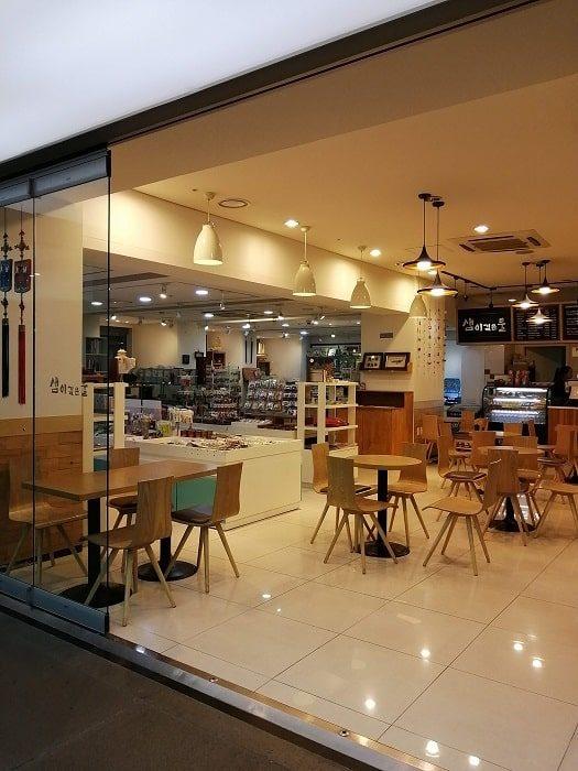 光化門広場地下のセジョンイヤギのカフェ