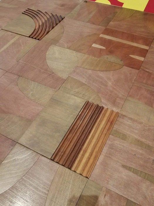 ハングルデザインの板の間、床‗国立ハングル博物館