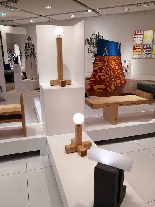 ハングルデザインのライト‗国立ハングル博物館
