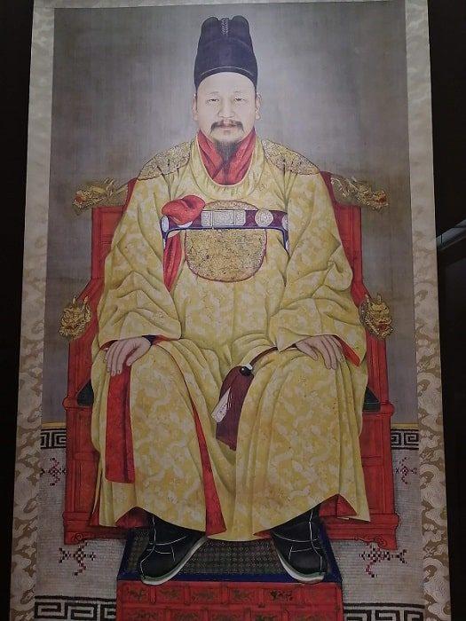 国立全州博物館 常設展示室朝鮮王朝 第26代王、大韓帝国 皇帝高宗の御眞