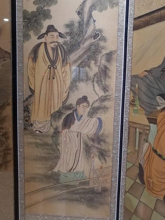 国立全州博物館 三国志の屏風