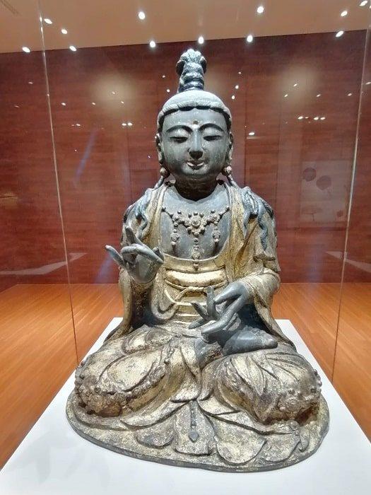 国立全州博物館 14世紀高麗時代 金銅菩薩坐像