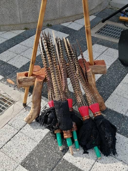 全羅北道無形文化財 全州旗接(キジョン)ノリ(전주기접놀이)小道具