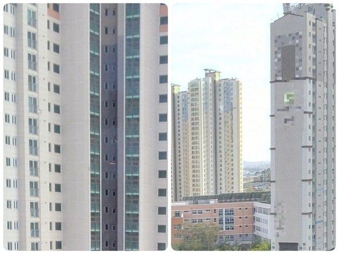 韓国の住宅にはベランダの代わりにサンルーム