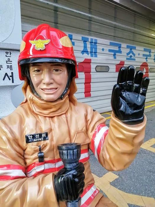 韓国の消防士、アンジョニさん(安全)