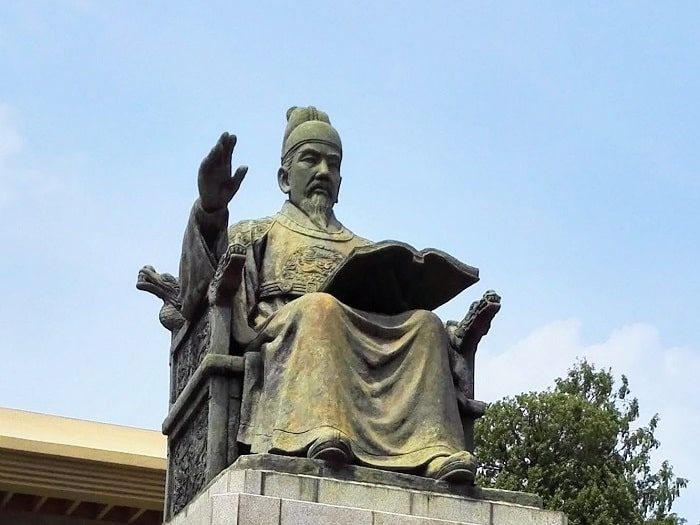 世宗大王記念館の世宗(セジョン)大王銅像