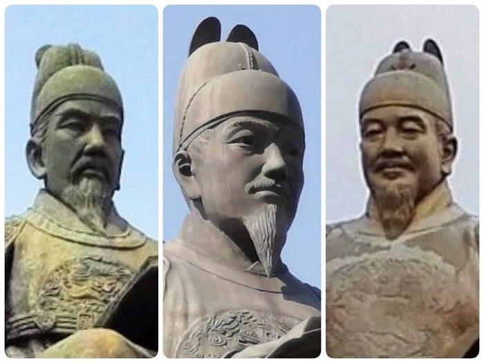 ソウル市内の3つの世宗(セジョン)大王の顔