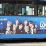 韓国ソウルのバス広告_