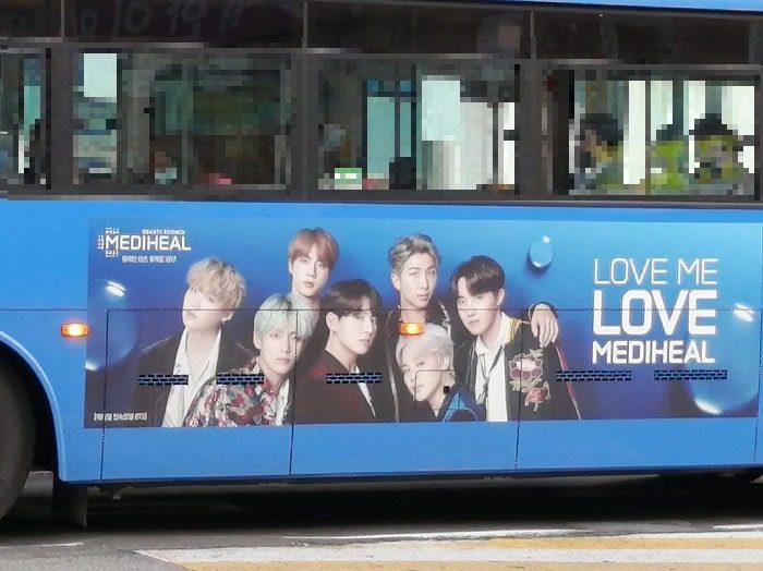 韓国ソウルのバス広告_BTS、防弾少年団