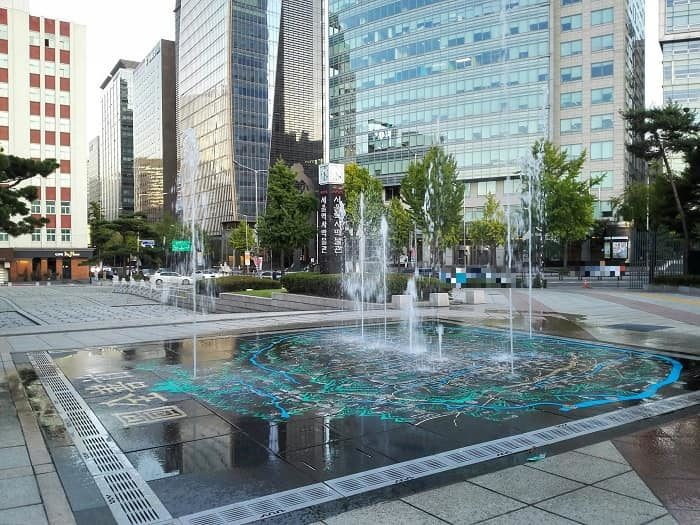 ソウル歴史博物館、首善全図の噴水