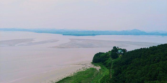 パジュ市烏頭山展望台、北朝鮮がみえる