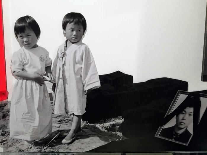 5・18民主化運動(光州事件) 遺族の写真